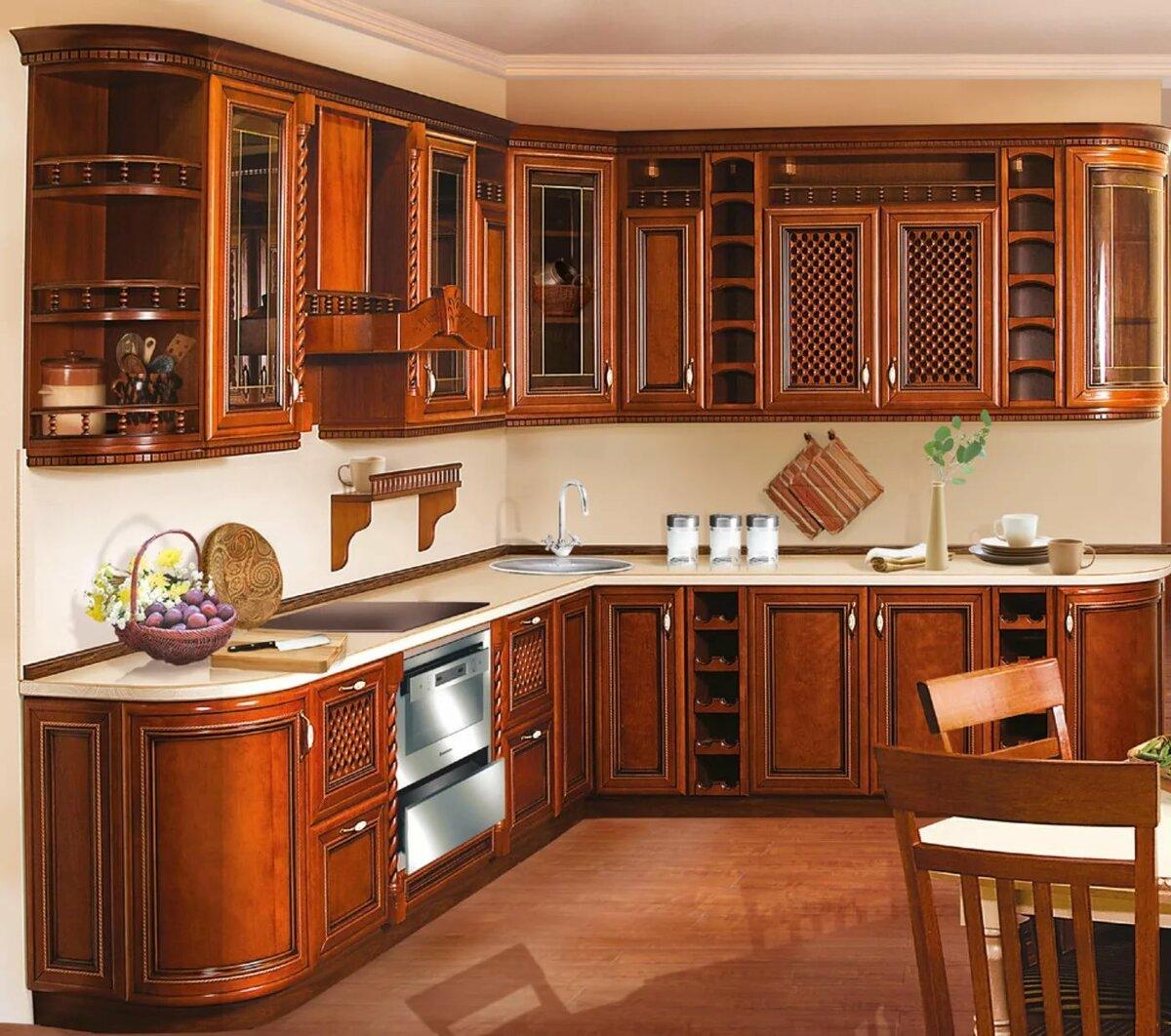 кухни угловые массив классика фото даже бюстгальтеры себе