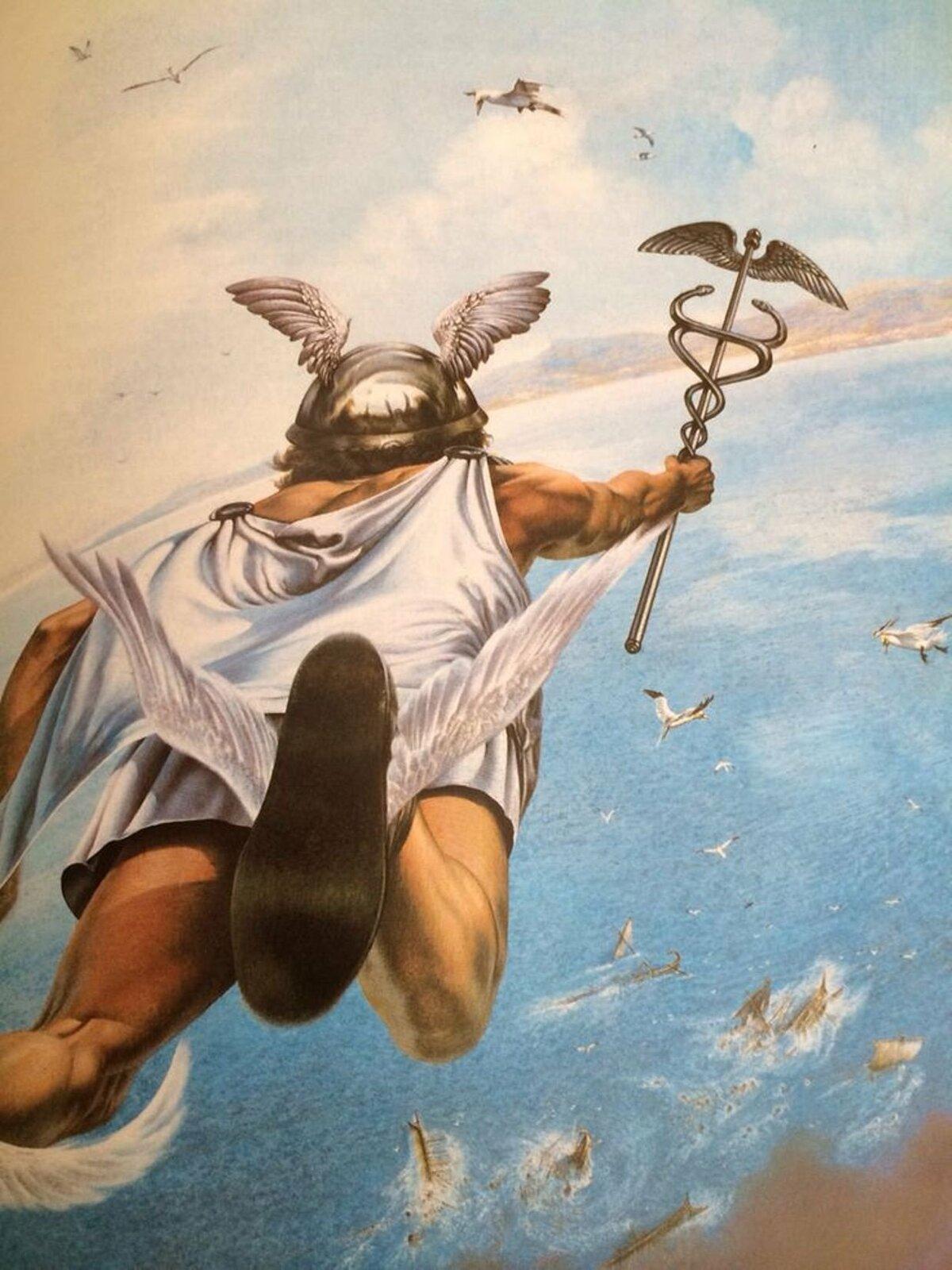 древнегреческий бог гермес картинки наводить порядок