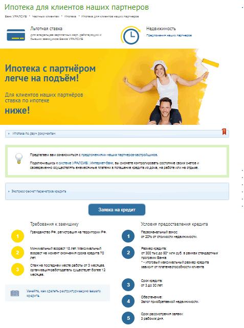 Уралсиб банк омск кредит наличными онлайн заявка