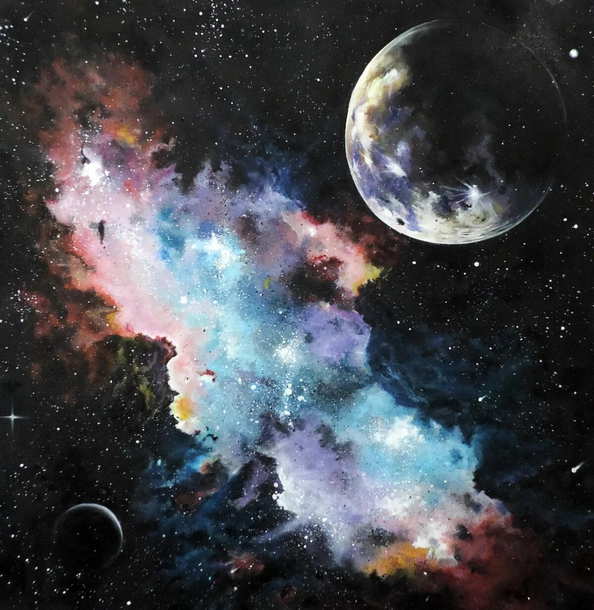Картинки маслом космос