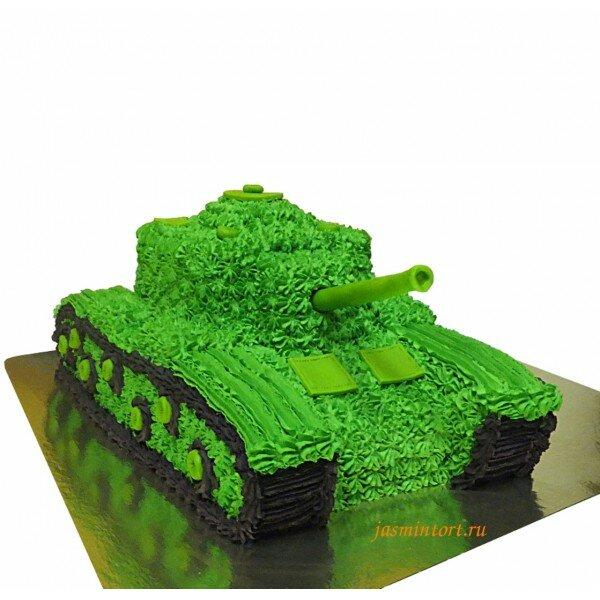 торты в форме танка фото