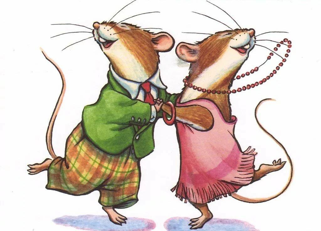 Надписью салаты, открытка с крысой