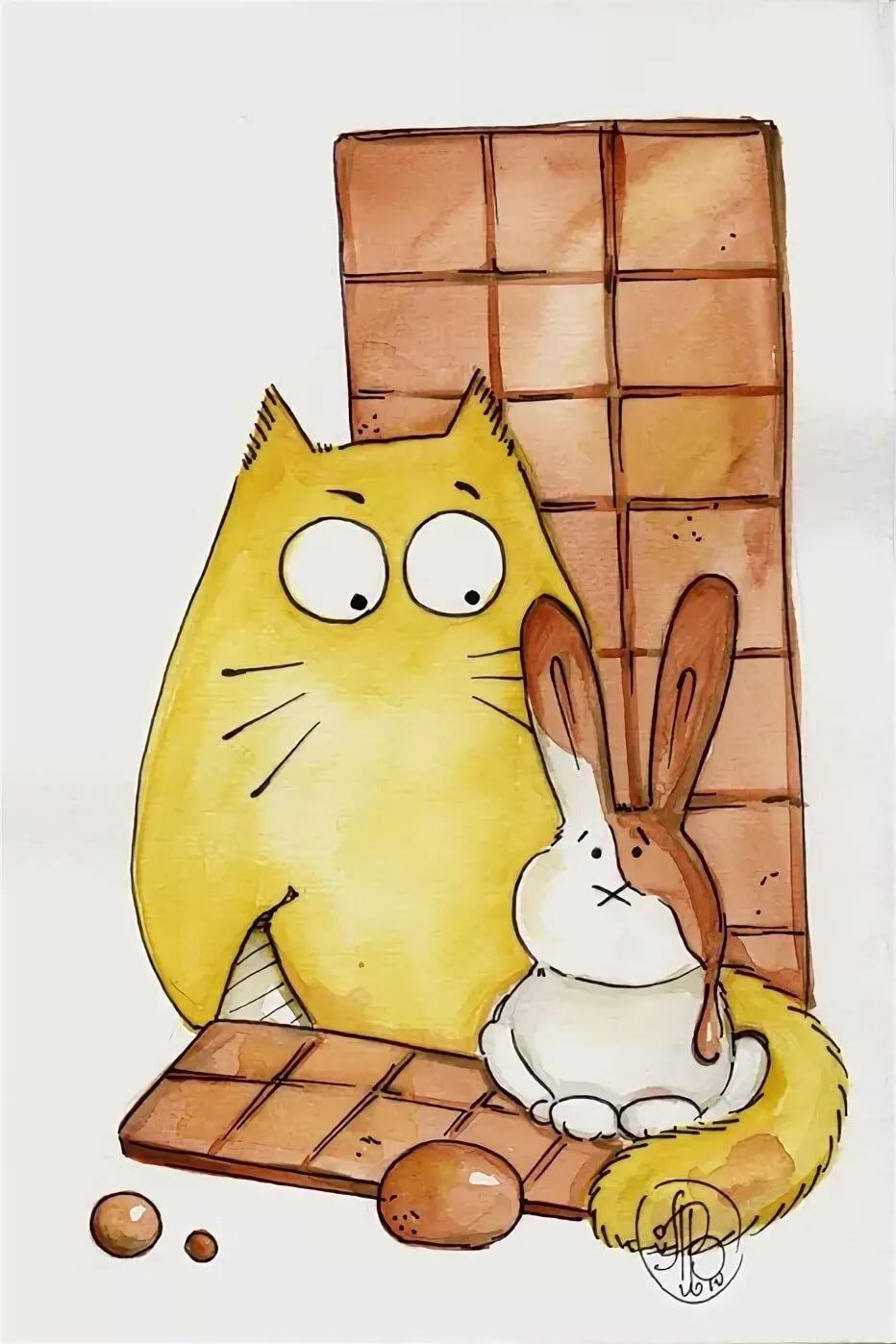 Прикольные рисунки котики
