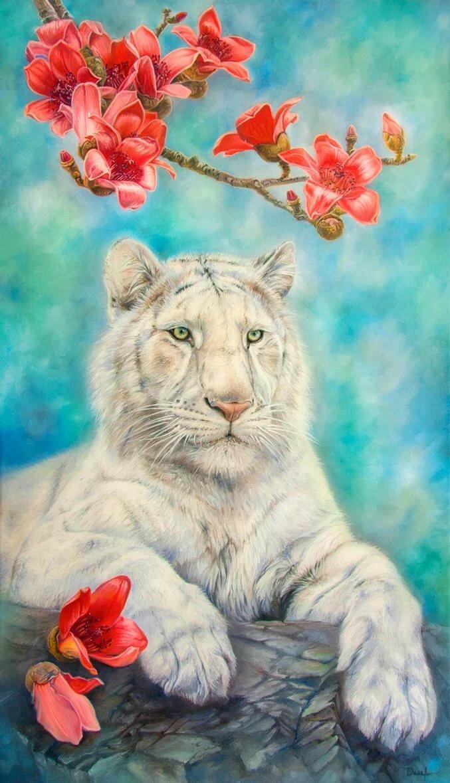 картинки тигры с розами мягкость