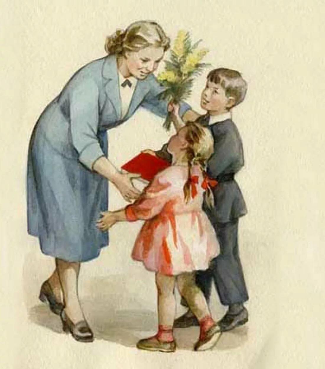 Блестяшки, картинки с днем учителя старинные
