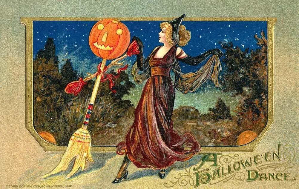 Старинные открытки к хэллоуину, енотами смешные сюрприз