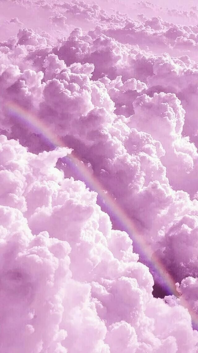 Обои на телефон облака розовые