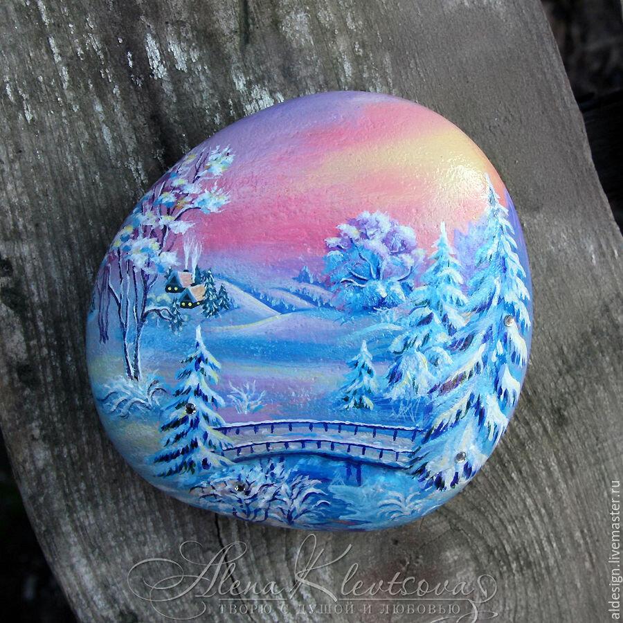 использовании картинки миниатюра на камне зимние это