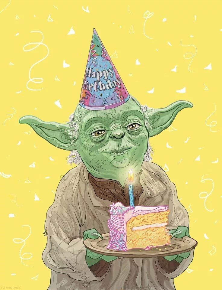 Открытка с днем рождения звездные войны, днем рождения