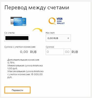 Взять кредит перевод на киви кошелек кредит под залог птс в спб