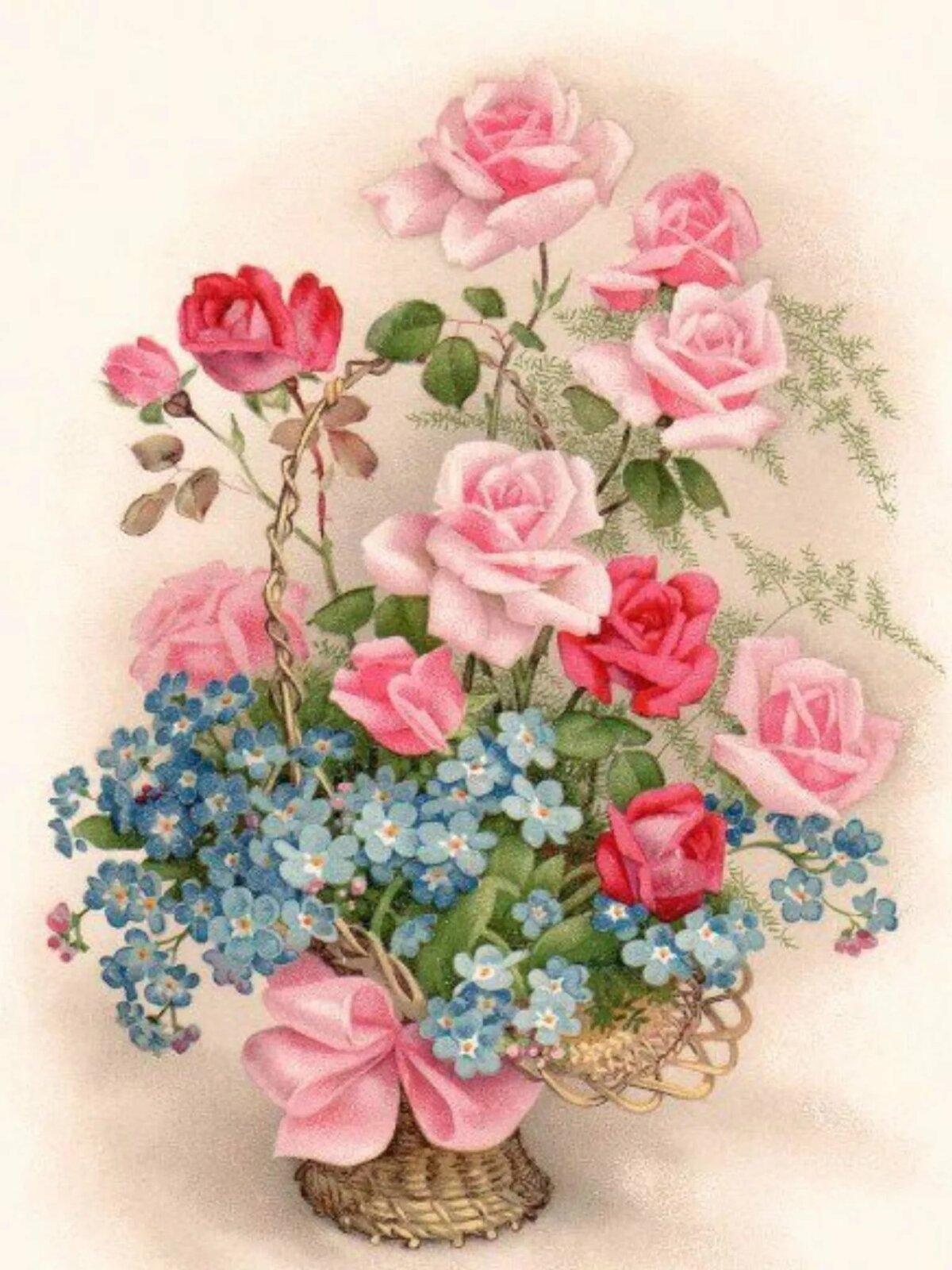 днем красивые картинки с цветами старинные виды, формы