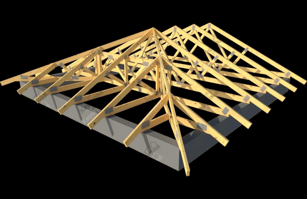 устройство вальмовой крыши своими руками стропильная система