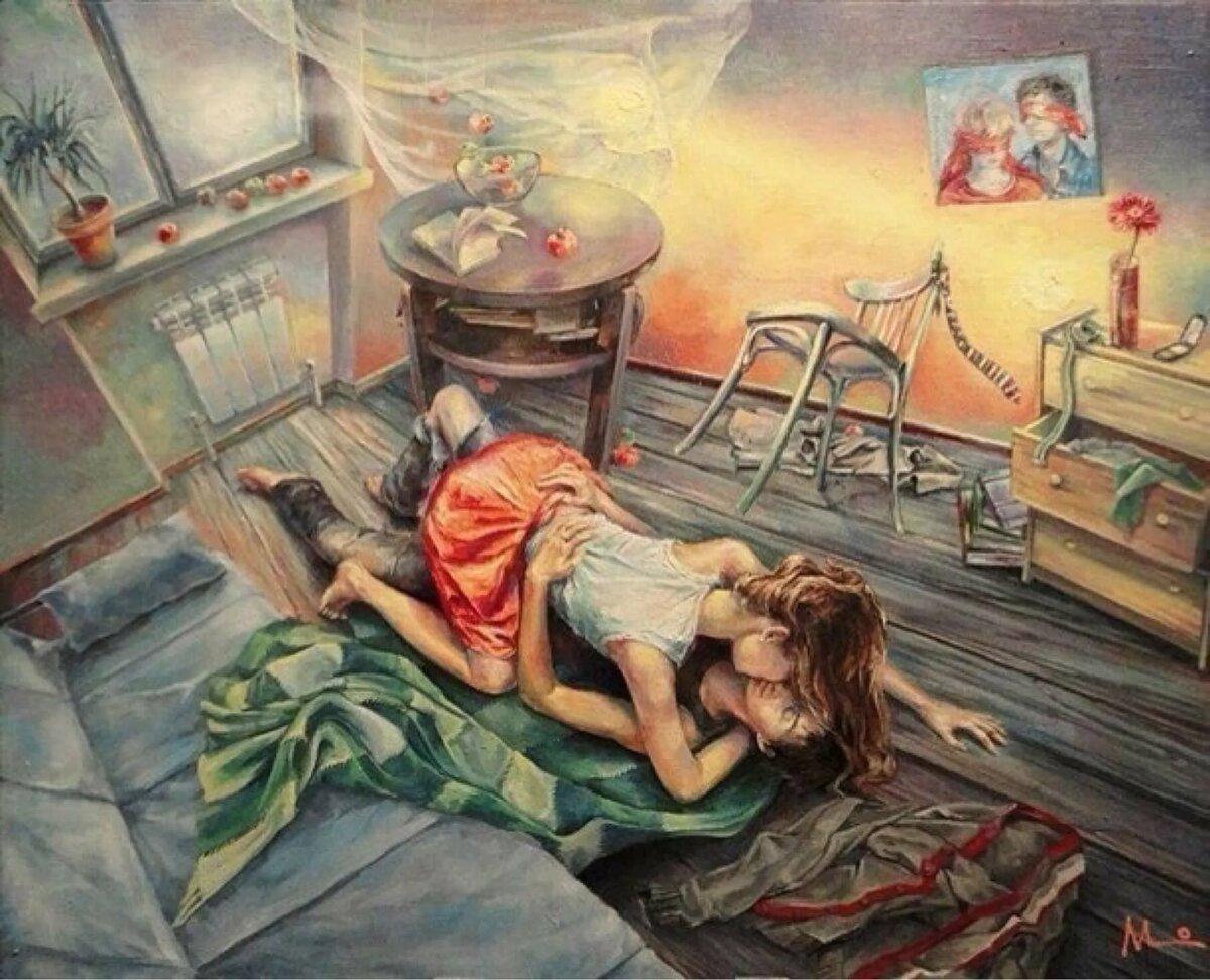 Любимая марина, помогать ему а странная открытка лежала на полу