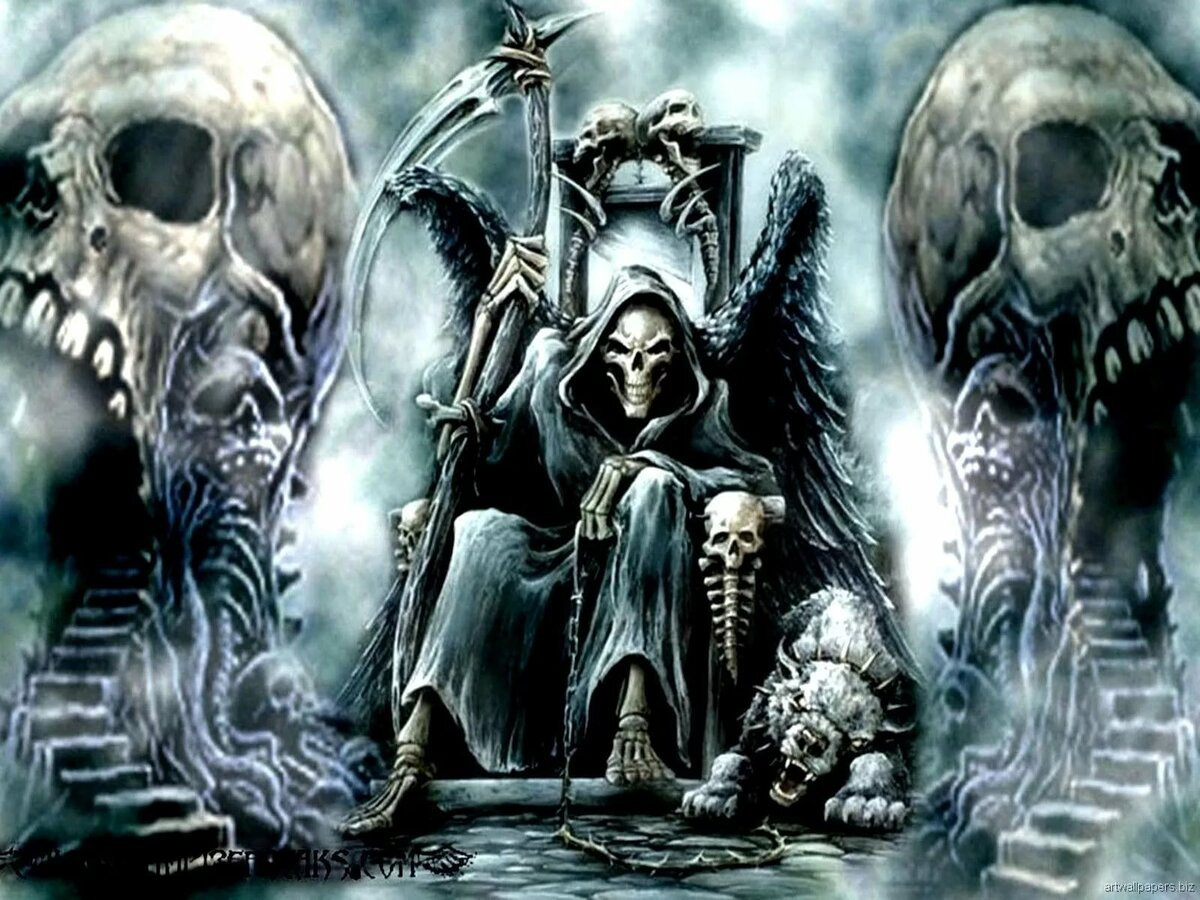 Картинки крутые скелеты на троне, днем рождения