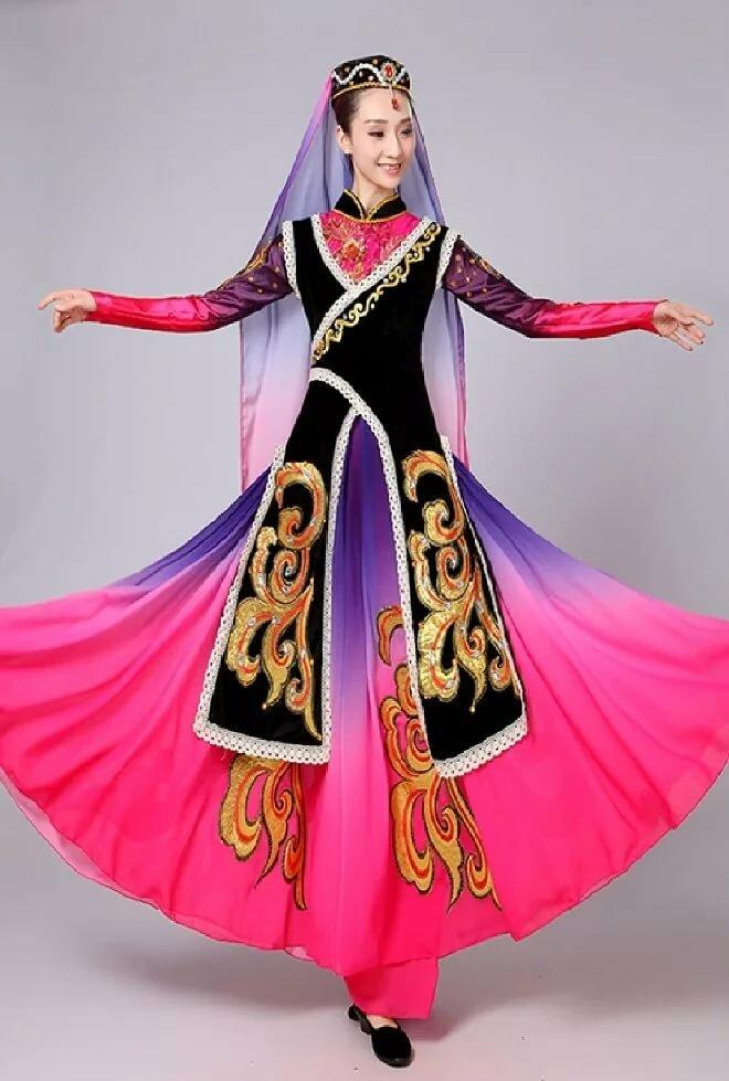 уйгурский национальный костюм фото использовало