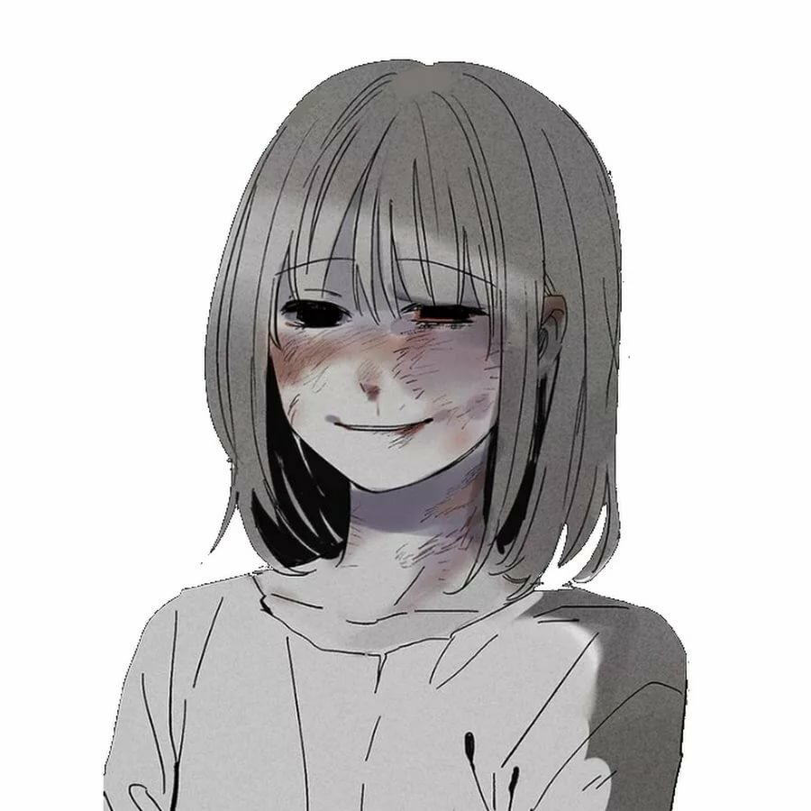 Аниме картинки девушек грустных с белыми короткими волосами
