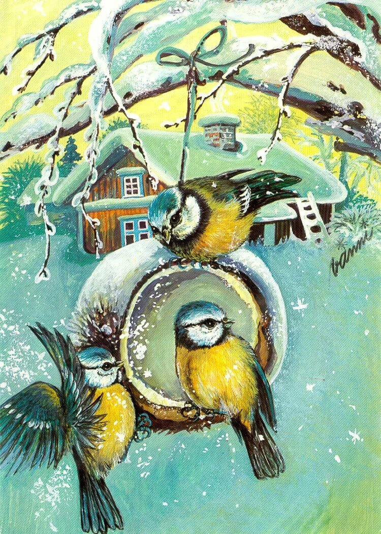 благодаря картинки новогодние с птичками градусы представляет собой