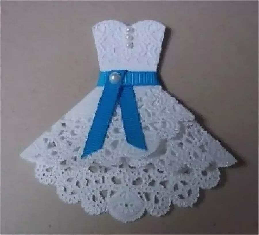 Удачи, открытка к 8 марта с платьем своими руками