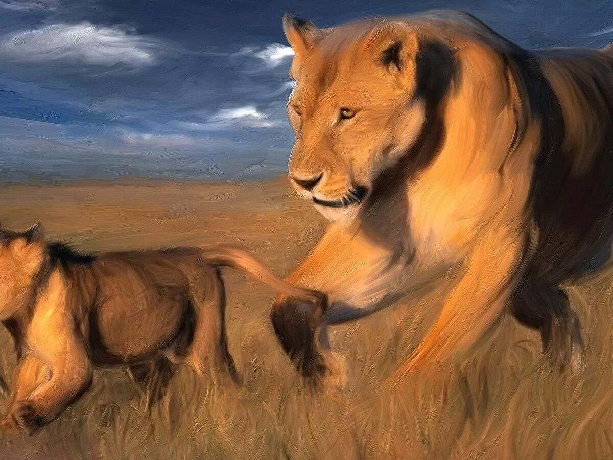 Красивые львицы арты