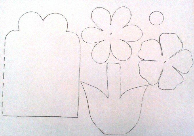 Как сделать открытку на 8 марта бабушке поэтапно