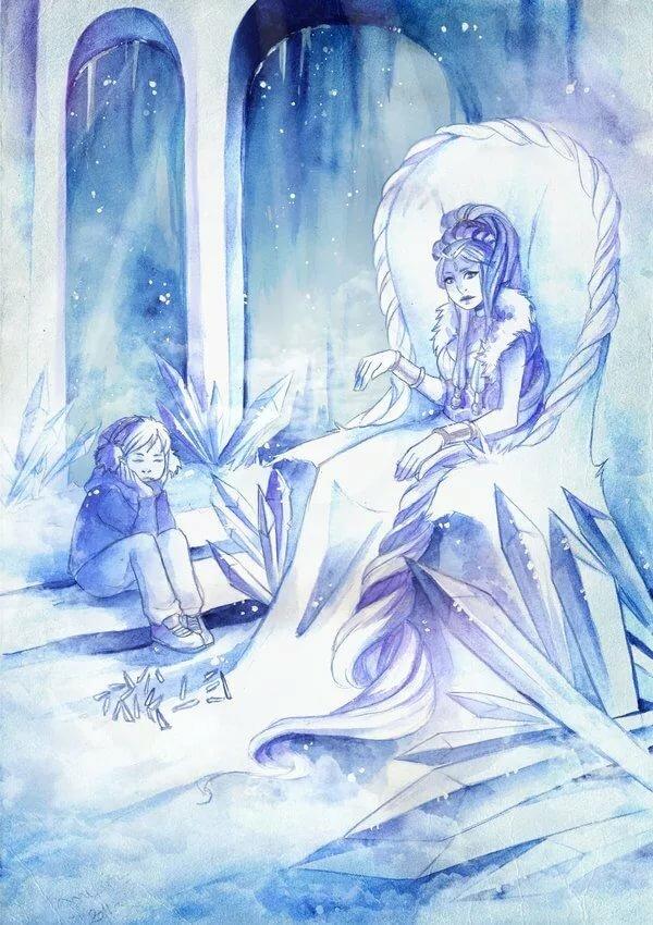 работы рисунок снежная королева на троне могут