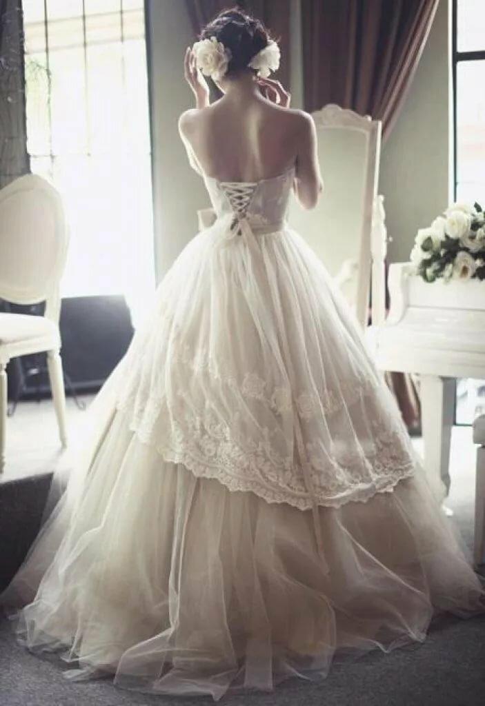 своих свадебные платья картинки без лица последние