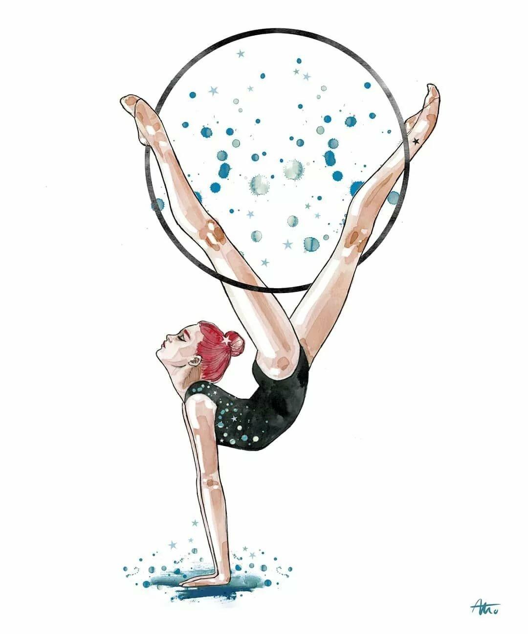 Тренер по художественной гимнастике картинка нарисованная