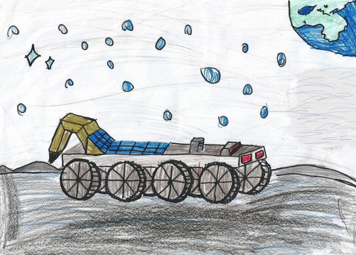 Картинка детская луноход