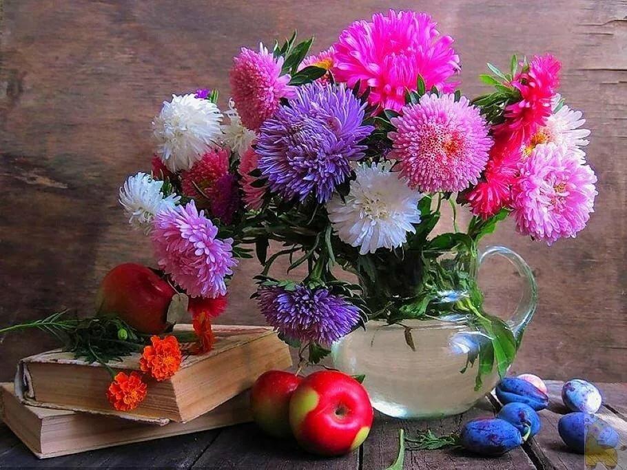Надписью, красивые картинки осенние цветы