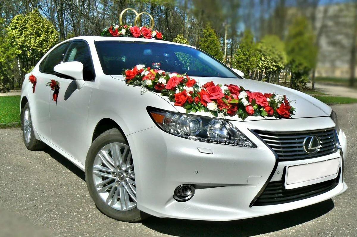 Украшение на свадебные машины в картинках красивый
