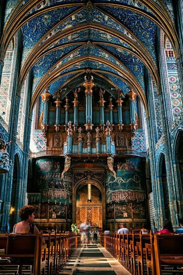 saint cecil cathedral, albi, france.