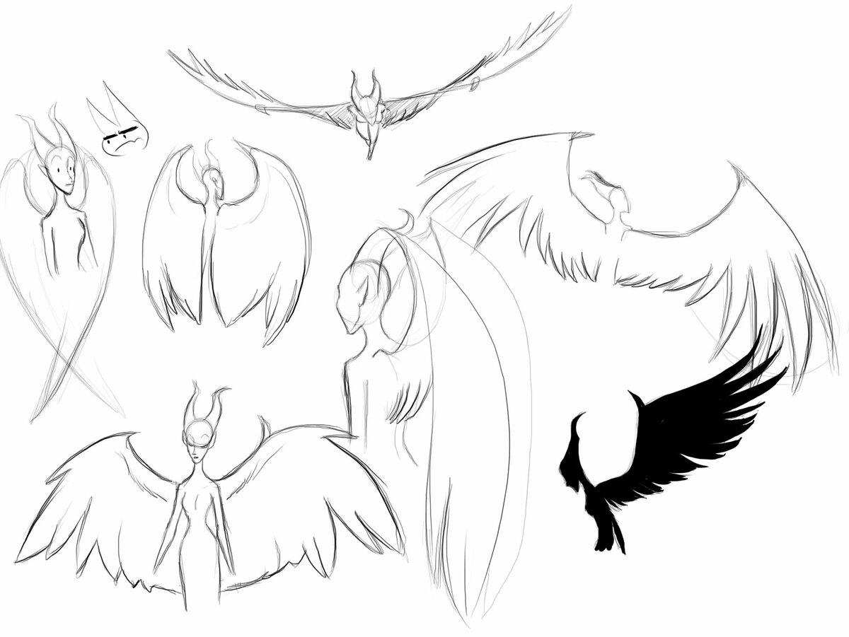 Картинки малефисента с крыльями в полный рост для срисовки