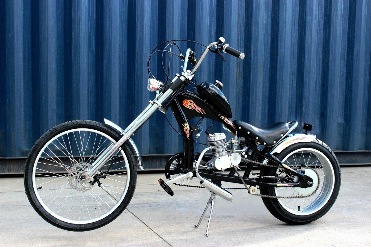 Велочоппер с мотором