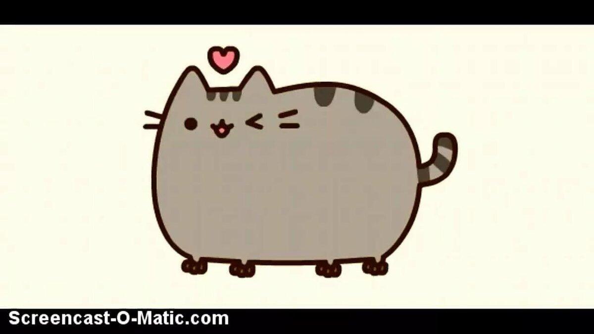 Серый кот картинки для срисовки, открытка