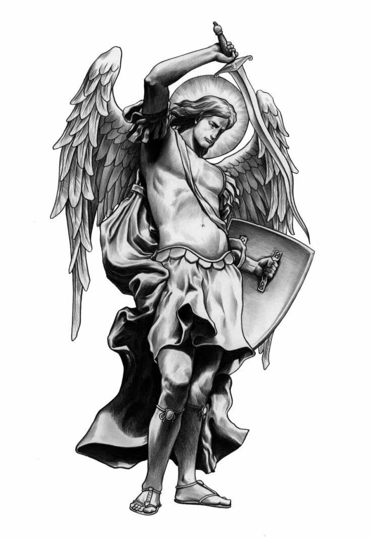 черный ангел тату картинки