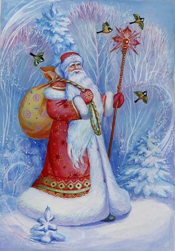 из-за новогодние картинки русского деда мороза очень развратная звезда