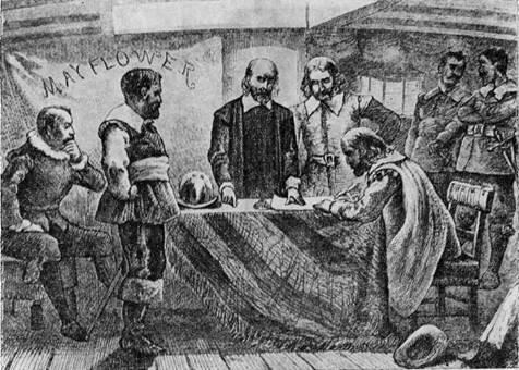 Подписание соглашения на «Мэйфлауэре»