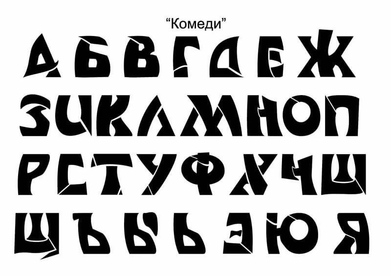 Картинка название шрифтов