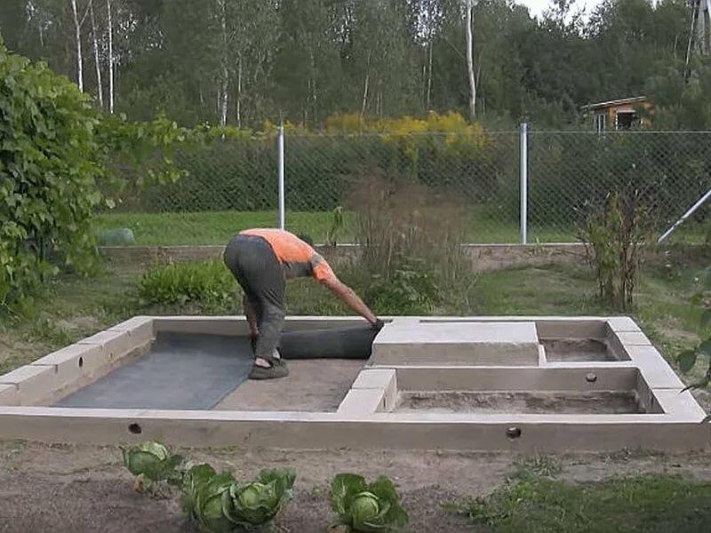 фундамент для бани своими руками пошаговая