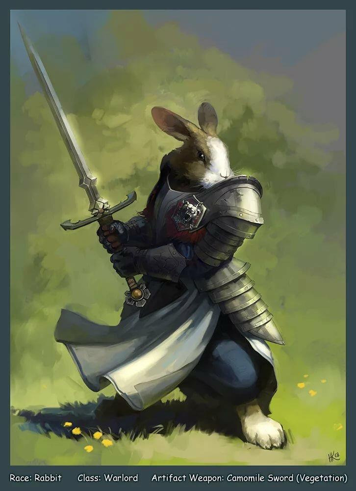 кролики фэнтези картинки простой