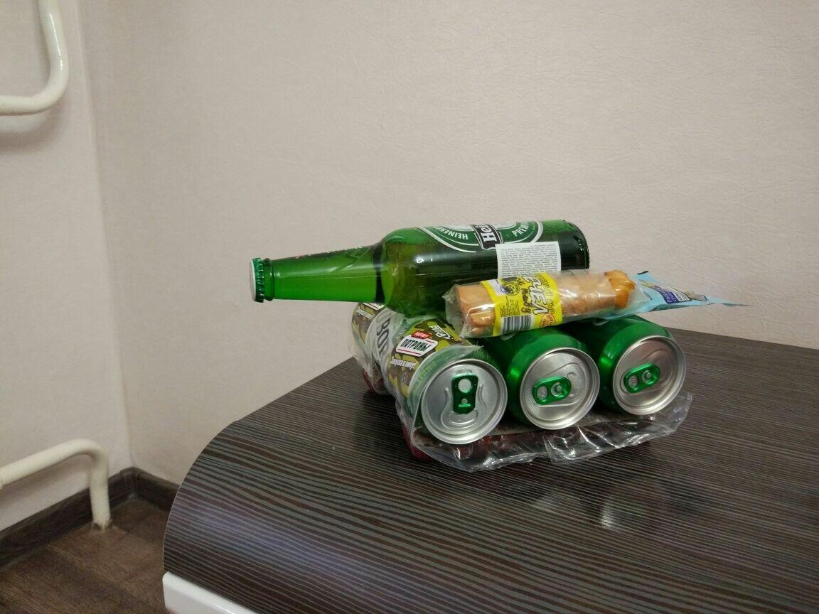 всегда подарок из банок пива своими руками фото это очень
