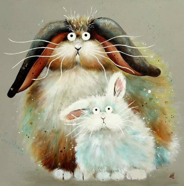 Смешные рисунки животных в детскую, открытки