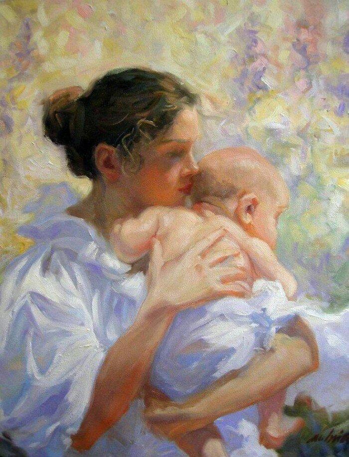 Картинки о женщине матери
