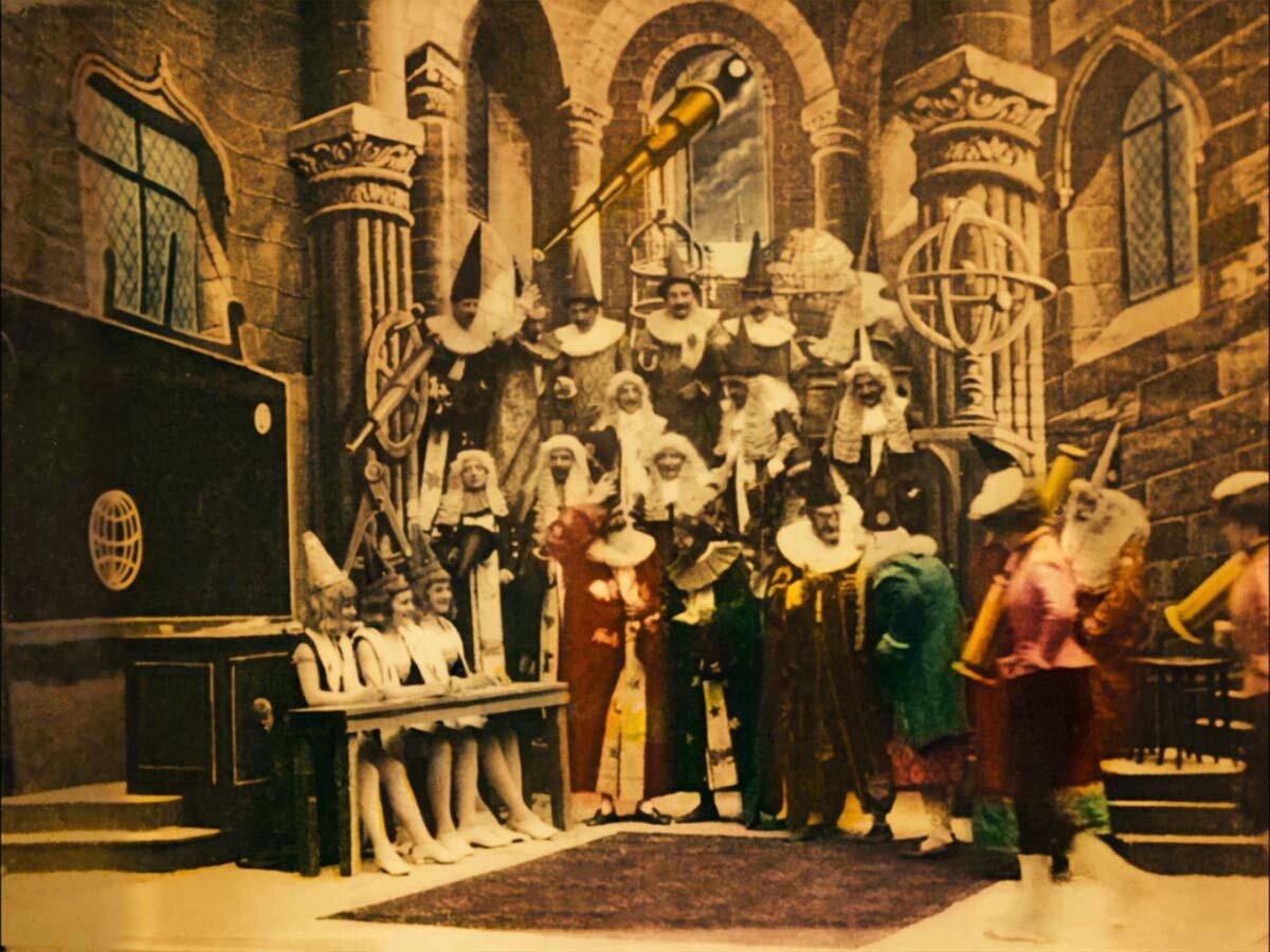 Путешествие на Луну (Франция, 1902 год) цветная версия, смотреть онлайн