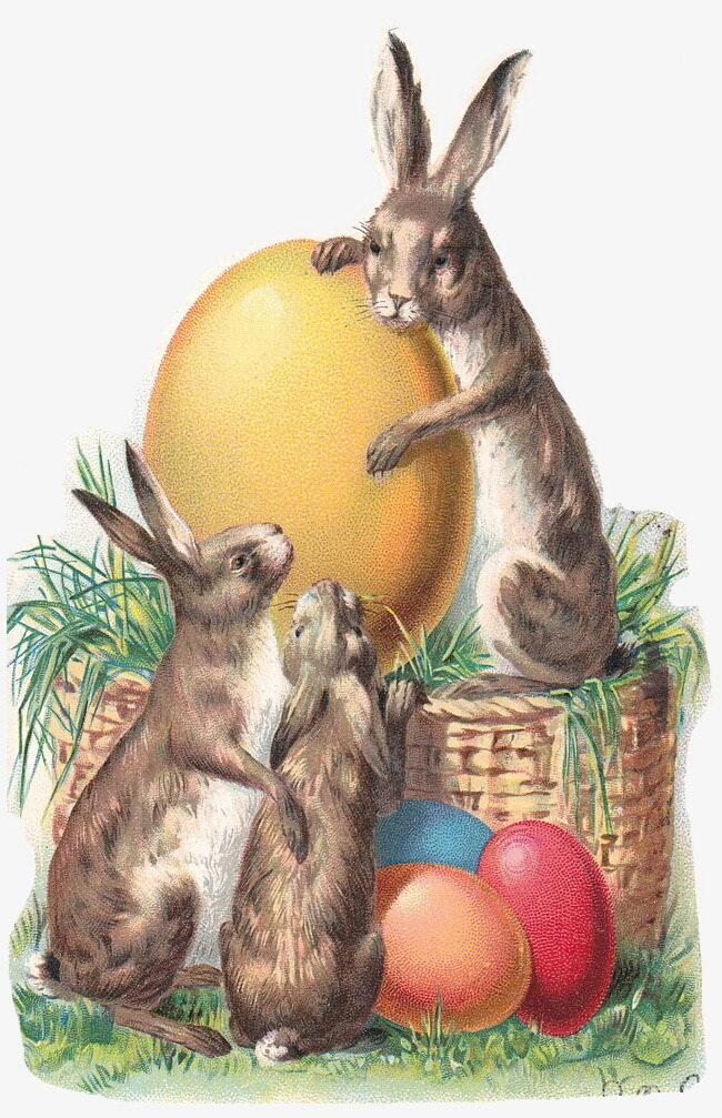 Старые открытки зайцы, можно