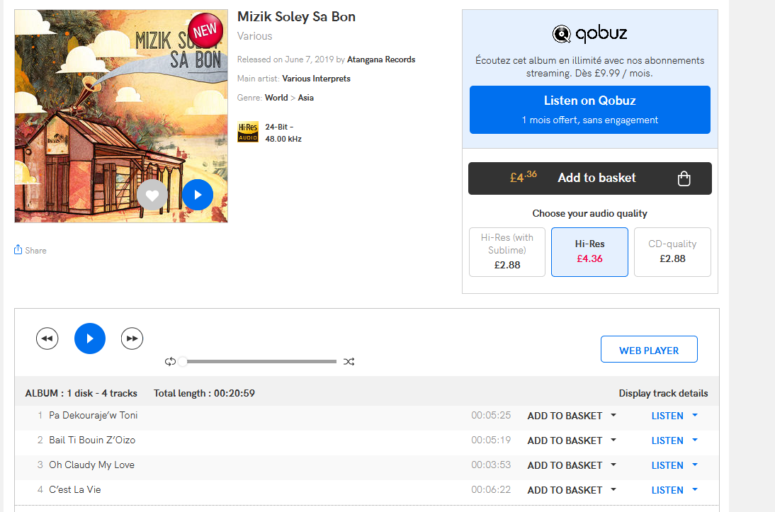 [retro zouk] Mizik Soley Sa Bon  S1200