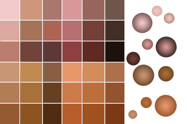 как получить коричневый цвет кожи на фото проблемы можно легко