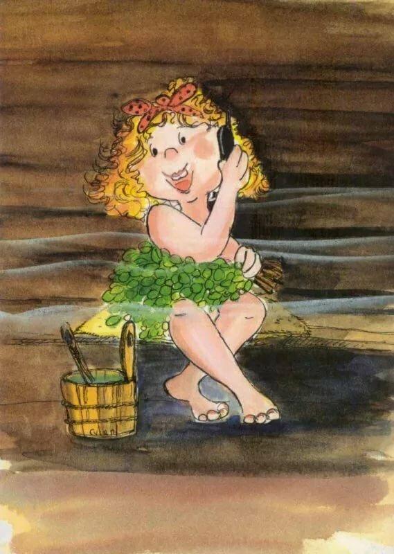 Весной вас, баня смешное в картинках