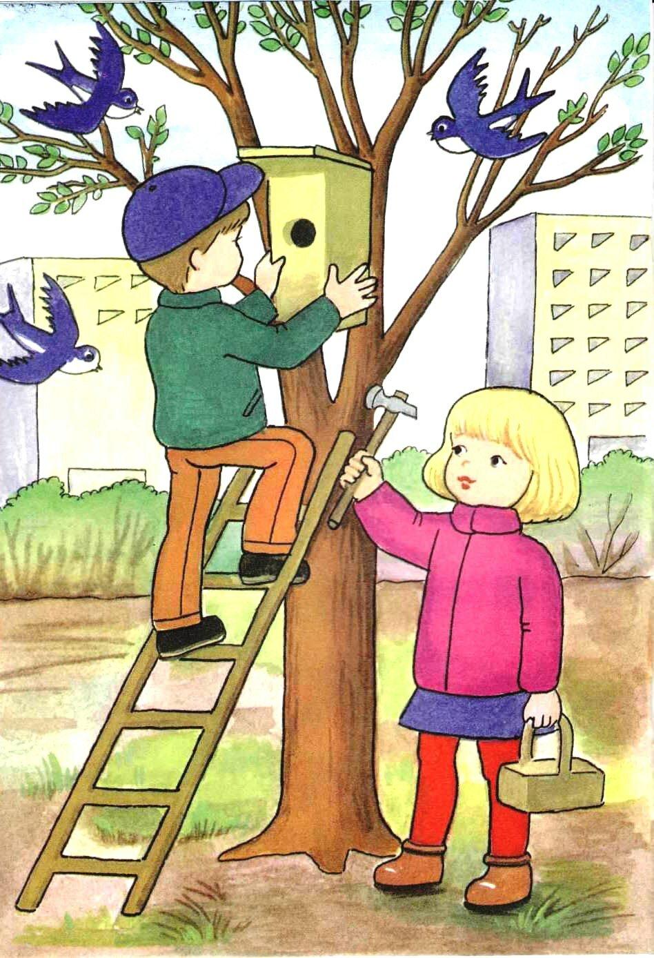 Детские весенние картинки