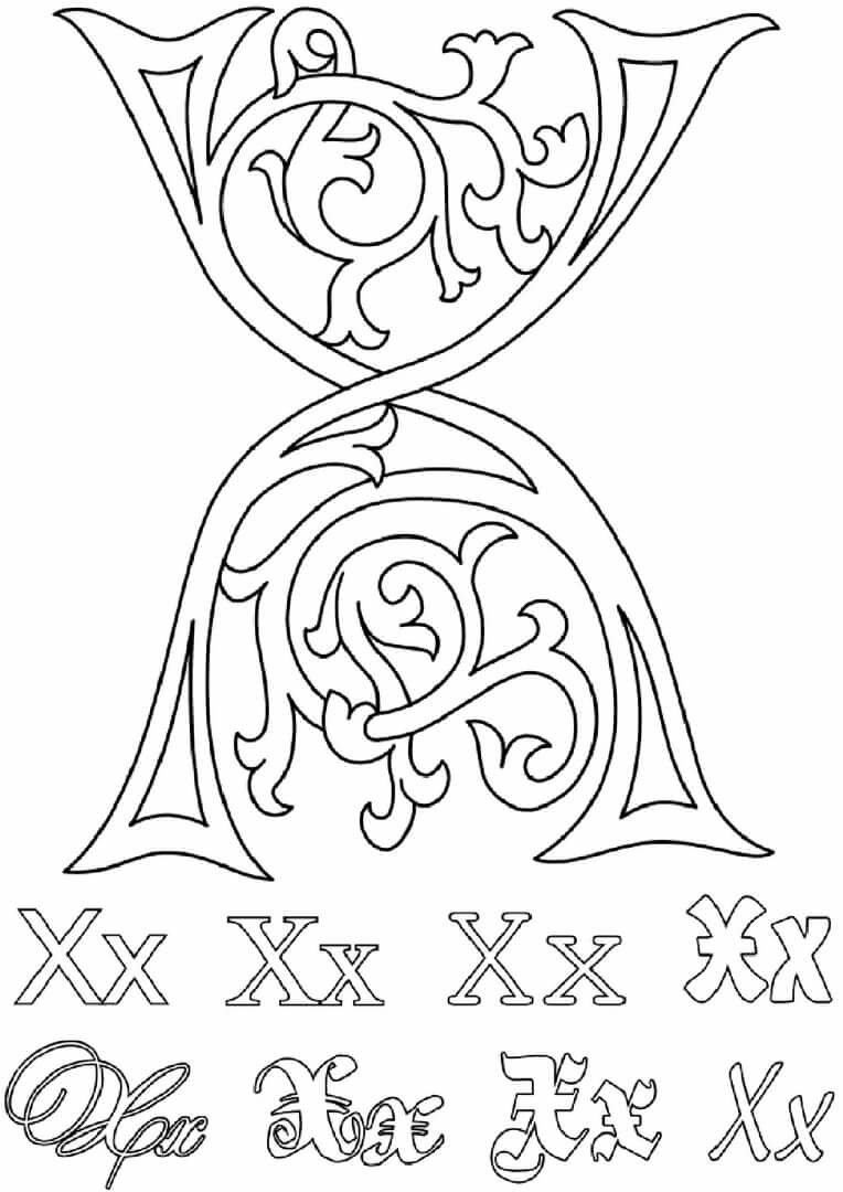 «Раскраски буквы алфавита. Английский алфавит № 2 ...